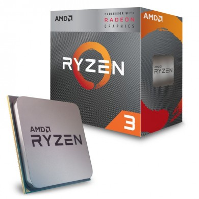 AMD Ryzen 3 PRO 3200G, Socket AM4, 3.6-4.0GHz (4C/4T), 4MB L3, Integrated Radeon Vega 8 Graphics, 12nm 65W, Bulk with Wraith Stealth Cooler