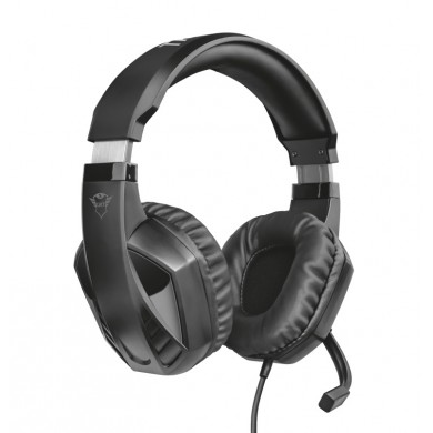 Trust Gaming GXT 412 Celaz  Multiplatform Headset, High quality microphone, 50 mm driver units for a deep and rich bass and clean highs, AAdjustable metal-reinforced headband and fold-away microphone, Black