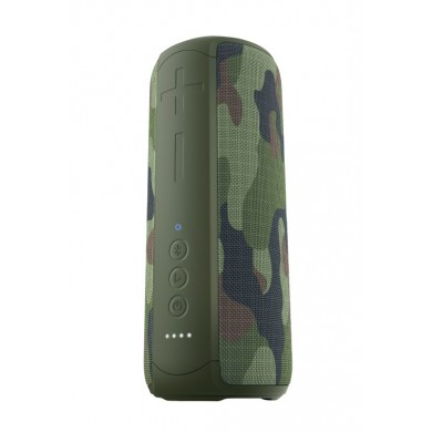 Trust Caro Max Powerful Bluetooth Wireless Speaker 20W, Waterproof IPX7, Up to 12 hours, Link two speakers wirelessly to boost your party, Bluetooth, micro SD and aux input, built-in microphone, Jungle Camo