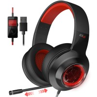 Edifier G4 Black / Gaming On-ear headphones with microphone, 7.1 , Vibration for a more immersive experience, Built-in retractable microphone, RGB light, Noise isolating, Dynamic driver 40 mm, Frequency response 20 Hz-20 kHz, USB