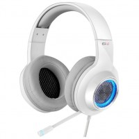 Edifier G4 White / Gaming On-ear headphones with microphone, 7.1 , Vibration for a more immersive experience, Built-in retractable microphone, RGB light, Noise isolating, Dynamic driver 40 mm, Frequency response 20 Hz-20 kHz, USB
