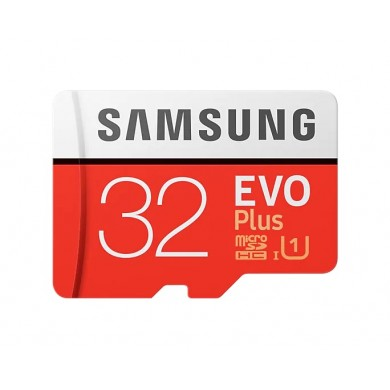 32GB microSD Class10 A1 UHS-I  Samsung EVO Plus, 633x, Up to: 100MB/s