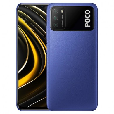 "Xiaomi Poco M3 EU 128GB Blue, DualSIM, 6.53"" 1080x2340 IPS, Snapdragon 662, Octa-Core 2.0GHz, 4GB RAM, Adreno 610, microSD (dedicated slot), 48MP+2MP+2MP/8MP, LED flash, 6000mAh, WiFi-AC/BT5.0, LTE, Android 10 (MIUI12), Infrared port, USB-C, FC 18W"