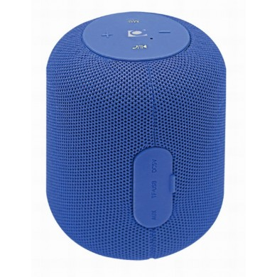 Gembird SPK-BT-15-B, Bluetooth Portable Speaker, 5W RMS, Bluetooth v.5.1, Built-in microphone, microSD, built-in lithium battery - 1200 mAh, FM-radio: power and audio cables are anntena, Blue