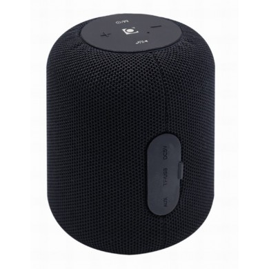 Gembird SPK-BT-15-BK, Bluetooth Portable Speaker, 5W RMS, Bluetooth v.5.1, Built-in microphone, microSD, built-in lithium battery - 1200 mAh, FM-radio: power and audio cables are anntena, Black