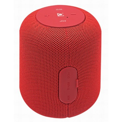 Gembird SPK-BT-15-R, Bluetooth Portable Speaker, 5W RMS, Bluetooth v.5.1, Built-in microphone, microSD, built-in lithium battery - 1200 mAh, FM-radio: power and audio cables are anntena, Red