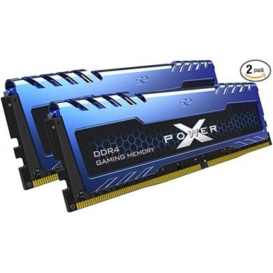 16GB DDR4-2666  Silicon Power XPOWER Turbine DDR4 Gaming UDIMM, PC21300, CL16, 1Gx8, 1.2V, Intel® XMP, Blue Aluminium Heatsink