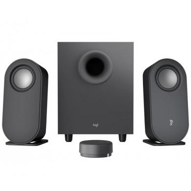 Logitech Z407 Speaker System 2.1 (40W, 20W subwoofer, 2x10W), Bluetooth: 5.0, Wireless control,  3.5 mm input, Micro-USB input, Black