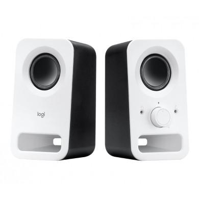 Logitech Z150 Speakers 2.0 ( RMS 3W, 2x1.5W ), Stereo headphone jack, Snow White