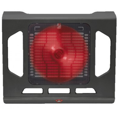 """Trust Gaming GXT 220 Kuzo, 17.4"""" Gaming notebook cooling stand with silent, extra-large and red illuminated fan, Black"""