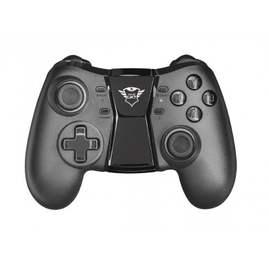 Trust GXT 590 Bosi Bluetooth Wireless Gamepad, Bluetooth gamepad for Windows and Android, 13  buttons, 2 pressure sensitive trigger buttons, 2 analogue joysticks and 8-way D-ad rechargeable battery for up to 30 hours of playtime, Vibration, Black