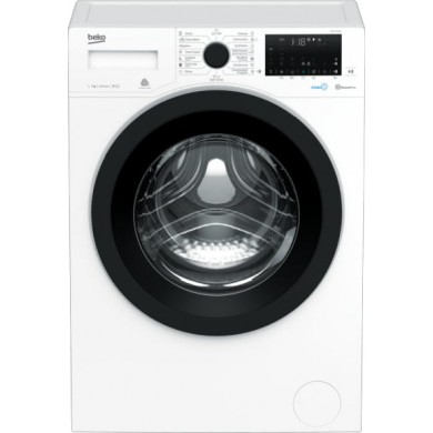 Washer Beko WUE7736X0,  White, Max load - 7kg, Max speed - 1400rpm, 84x60x49cm, Depth - 49cm,  RemoteControl/SteamCure/AddGarment/Inverter, Download Type - front, Class - A+++/B, Display, 11 programm