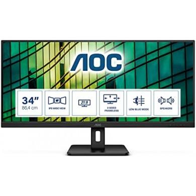 "34.0"" Monitor AOC Q34E2A / 4ms / Black"