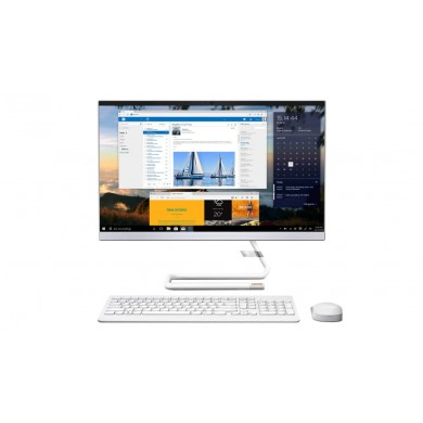 "All-in-One PC 23.8"" Lenovo IdeaCentre 3 24IIL5 / Intel Core i3 / 8GB / 256GB SSD / White"