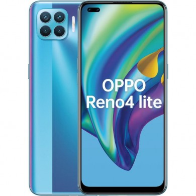"OPPO Reno 4 lite EU 128GB Blue, DualSIM, 6.43"" 1080x2400 AMOLED, Mediatek Helio P95, Octa-Core 2.2GHz, 8GB RAM, microSD (dedicated slot), 48MP+8MP+2MP+2MP/16MP, LED flash, 4015mAh, FC30W, USB-C, WiFi-AC/BT5.1,  Android 10 (ColorOS 7.2)"