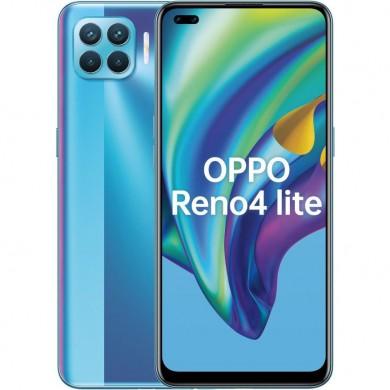 "OPPO Reno 4 lite EU 128GB Blue, DualSIM, 6.43"" 1080x2400 AMOLED, Mediatek Helio P95, Octa-Core 2.2GHz, 8GB RAM, microSD (dedicated slot), 48MP+8MP+2MP+2MP/16MP, LED flash, 4015mAh, FC30W, USB-C, WiFi-AC/BT5.1,  Android 10 (ColorOS 7.2)"