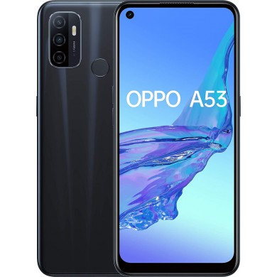 "OPPO A53 EU 128GB Black, DualSIM, 6.5"" 720x1600 IPS, Snapdragon 460, Octa-Core 1.8GHz, 4GB RAM, microSD (dedicated slot), 13MP+2MP+2MP/16MP, LED flash, 5000mAh, FC18W, USB-C, WiFi-AC/BT5.0,  Android 10 (ColorOS 7.2)"