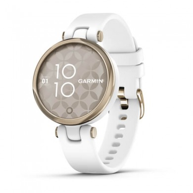 GARMIN Lily Cream Gold Bezel with White Case and Silicone Band