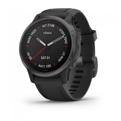 Garmin fenix 6S Pro and Sapphire, Carbon grey DLC with black band