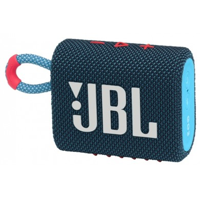 JBL Go 3 Blue / Bluetooth Portable Speaker, 4.2W (1x4.2W) RMS, BT Type 5.1, IP67 Waterproof, USB Type-C