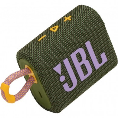 JBL Go 3 Green / Bluetooth Portable Speaker, 4.2W (1x4.2W) RMS, BT Type 5.1, IP67 Waterproof, USB Type-C