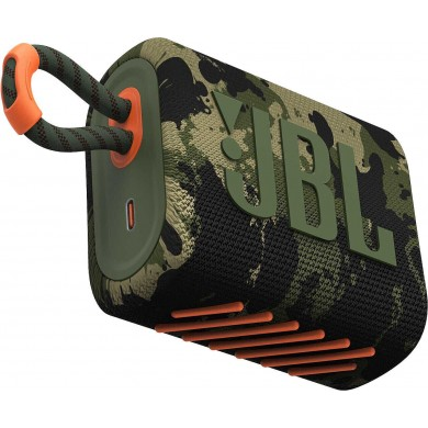 JBL Go 3 Squad (Camouflage) / Bluetooth Portable Speaker, 4.2W (1x4.2W) RMS, BT Type 5.1, IP67 Waterproof, USB Type-C