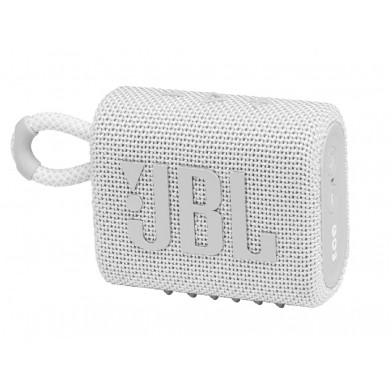 JBL Go 3 White / Bluetooth Portable Speaker, 4.2W (1x4.2W) RMS, BT Type 5.1, IP67 Waterproof, USB Type-C
