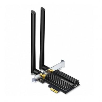 TP-LINK Archer TX50E  AX3000 Wi-Fi 6 + Bluetooth PCI Express Adapter, 2402Mbps on 5GHz + 574Mpbs on 2.4GHz, 802.11ax/ac/n/g/b/a, 2 Dual Band detachable аntennas, Bluetooth 5.0