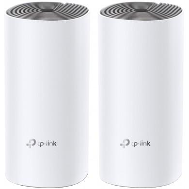 TP-LINK Deco E4 (2-pack)  AC1200 Mesh Wi-Fi System, 2 LAN Port, 867Mbps on 5GHz + 300Mbps on 2.4GHz, 802.11ac/b/g/n, Wi-Fi Dead-Zone Killer, Seamless Roaming with One Wi-Fi Name, Antivirus, Parental Controls