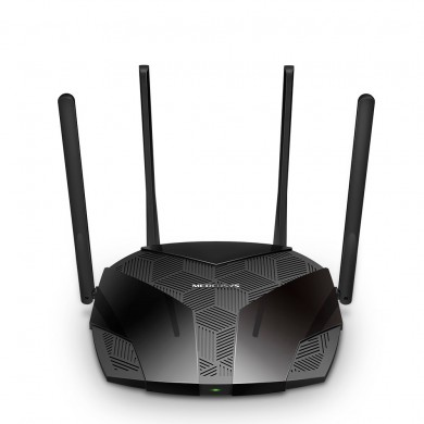 MERCUSYS MR70X  Wi-Fi 6 Wireless Gigabit Router, 1201Mbps at 5Ghz + 574Mbps at 2.4Ghz, 802.11ax/ac/a/b/g/n, 1 Gigabit WAN+3 Gigabit LAN, OFDMA, MU-MIMO, Target Wake Time, BSS color, 4 fixed antennas