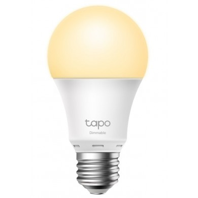 TP-LINK Tapo L510E, Smart Wi-Fi LED Bulb E27 with Dimmable Light, White, Color Temperature 2700K, Rated power 8W, 806 lumens, 15,000 hours, Beam angle 220°, Remote control via Wifi, Adjust brightness, Яндекс Алиса, Google Assistent