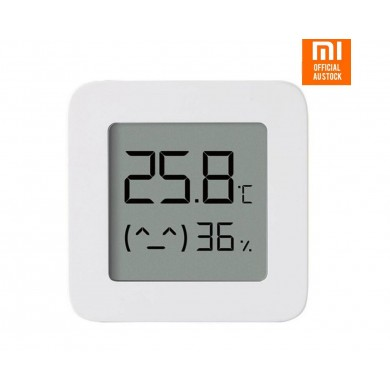"""XIAOMI """"Mi Temperature and Humidity Monitor 2"""", White, LCD Screen 1.78"""", Battery CR2032 (not included), High Sensitive, Low Consume, Real Time Monitoring Temperature and Relative Humidity,  Check Status and Get Advice via Mi Home APP,  43g"""