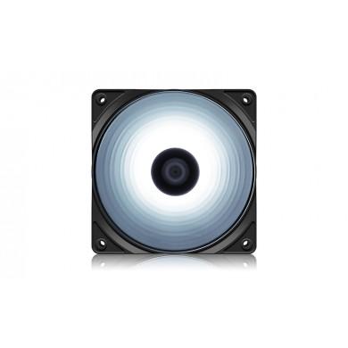 """120mm Case Fan  - DEEPCOOL """"RF120W"""" White LED Fans, 120x120x25mm, 500-1500rpm, 21.9dBa, 48.9 CFM, 3-pin & 4-pin Peripheral"""