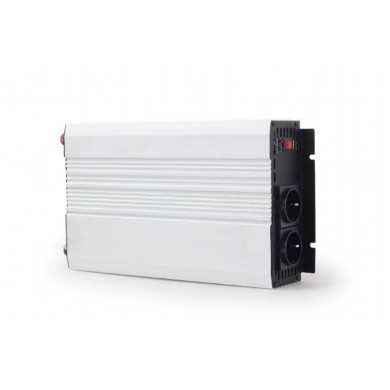 EnerGenie GMB EG-PWC-045, 12V Car power inverter, 1200W, with USB port / 5V-2.1A,  Power output: 1200 W continuous power (peak power 800 W), Output: 230 VAC, Input: 11-15 VDC (car cigarette lighter or accumulator directly)