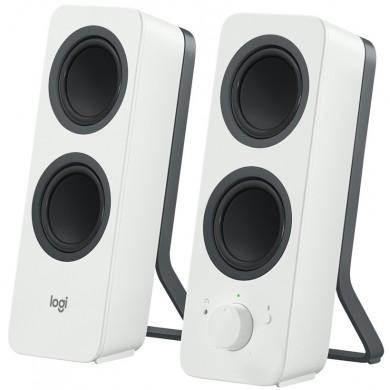 Logitech Z207 Bluetooth Speakers 2.0 ( RMS 5W, 2x2.5W), Stereo headphone jack, White