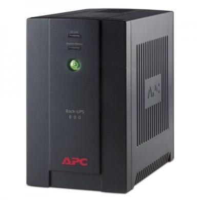 APC Back-UPS BX800CI-RS, 800VA/480W, AVR, 4 x CEE 7/7 Sockets (all 4 Battery Backup + Surge Protected), LED indicators