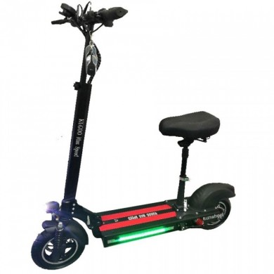 """KUGOO MAX SPEED, Folding Electronic Scooter, Black, Max speed 40km/h, Power 500W, Battery capacity: 40km in a single charge, Weight 23kg, Wheel 10"""", Maximum load: 150kg, Headlight Front/Rear LED, Seat pad"""