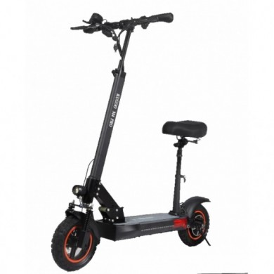 """KUGOO M4 PRO, Folding Electronic Scooter, Black, Max speed 45km/h, Power 600W, Battery capacity: 45km in a single charge, Weight 23kg, Wheel 10"""", Maximum load: 150kg, Headlight Front/Rear LED, Seat pad"""