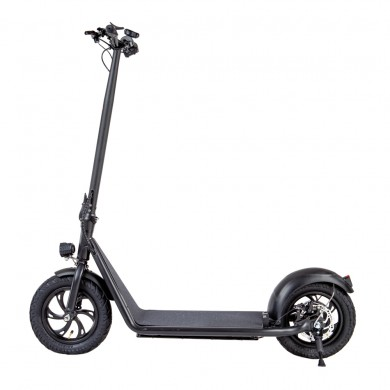 """IconBIT TRIDENT 127 PRO, Folding Electronic Scooter, Black, Max speed 25km/h, Power 480W, Battery capacity: 25km in a single charge, Weight 12kg, Wheel 12"""", Maximum load: 120kg, Headlight Front/Rear LED"""