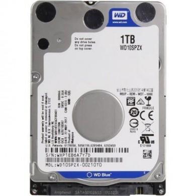 """2.5"""" HDD 1.0TB  Western Digital WD10SPZX, Blue™, 5400rpm, 128MB, 7mm, SATAIII, NP"""