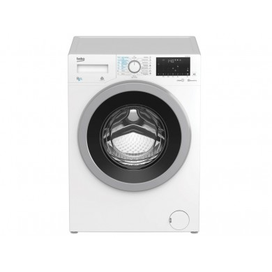 Washer Beko HTV8636XS0,  White, Max load - 8kg, Max speed - 1200rpm, 84x59x60cm, Depth - 60cm, Steam, Download Type - front, Display, Class - A