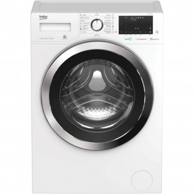 Washer Beko WUE9736XST, White, Max load - 8kg, Max speed - 1400rpm, 84x60x55cm, Depth - 55cm, Steam, Download Type - front, Class - A+++
