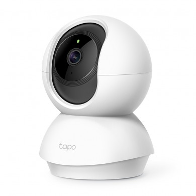 """TP-LINK Tapo C210, White, Pan/Tilt IP Camera, WiFi, Video resolution: 1080p, 114° angle lens, 1/2.8"""", F/NO: 2.4; Focal Length: 3.83mm, 2-way audio, Privacy Mode, Motion Tracking, Night Vision, 360° Panoramic Snapshot, MicroSD up to 256GB, Andoid/iOS"""