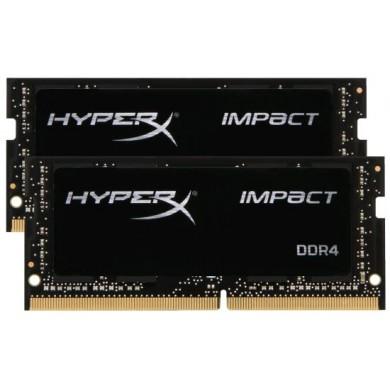 16GB (Kit of 2*8GB) DDR4-2666 SODIMM Kingston  HyperX® Impact, (Dual Channel Kit), PC21300, CL15, 1.2V