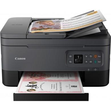 "MFD Canon Pixma TS7440 Black, Colour Printer/Duplex/Scanner/Copier/Wi-Fi, ADF(35-sheet), A4, Print 4800x1200dpi_2pl,Scan 600x1200dpi, OLED 1,44"", ESAT 13/6,8 ipm,64-300г/м2, Wi-Fi: IEEE802.11 b/g/n PG-460/461XL (180/400&180/300p)"
