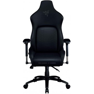 Razer Gaming Chair Iskur Black Edition Class 4 gas lift,  Armrest with comfortable cushions, 5-star metal powder coated, Tilting seat with locking possibility, Recommended Size: (170 – 190cm), < 136kg, Black