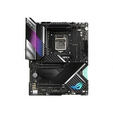 ASUS ROG MAXIMUS XIII APEX, Socket 1200,18Phases,Intel® Z590(11/10th GenCPU), Dual 2xDDR4-5333, 2xPCIe X16 4.0, 8xSATA3, 1xPCIeX4, RAID, 4xM.2 4.0, ALC4080, 2.5GbE LAN, WiFi6/BT5.2, 7xUSB3.2Gen2(5xA+2xC), 6xUSB3.2, Aura Sync, ATX