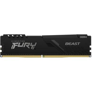 16GB DDR4-3200  Kingston FURY® Beast DDR4, PC25600, CL16, 1.35V, 1Gx8, Auto-overclocking, Asymmetric BLACK low-profile heat spreader, Intel XMP Ready  (Extreme Memory Profiles)
