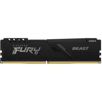 32GB DDR4-3200  Kingston FURY® Beast DDR4, PC24000, CL16, 1.35V, Auto-overclocking, Asymmetric BLACK low-profile heat spreader, Intel XMP Ready  (Extreme Memory Profiles)