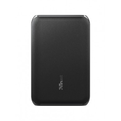 10000mAh Power bank - Trust Pacto2 Pocket-Size, Black, Charge 3 devices at once thanks to USB-C port and 2 USB ports, ast-charge with maximum speed via USB (15W)